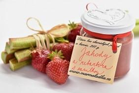 Jahody a rebarbora s vanilkou